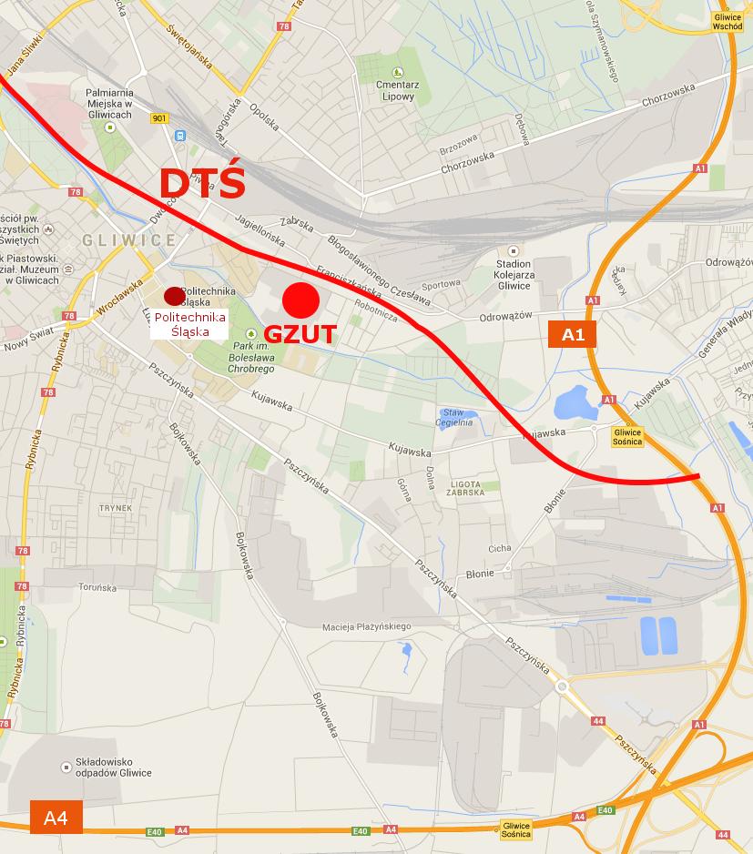 GZUT - lokalizacja Parku Przemysłowego